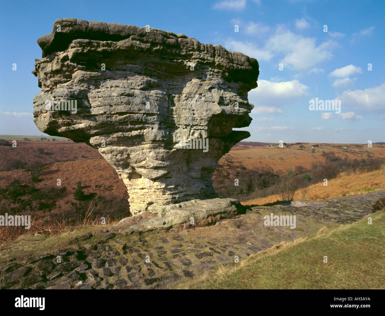 york weather. Wind And Weather Eroded Sandstone Rock; Low Bride Stone, Dalby Forest, North York
