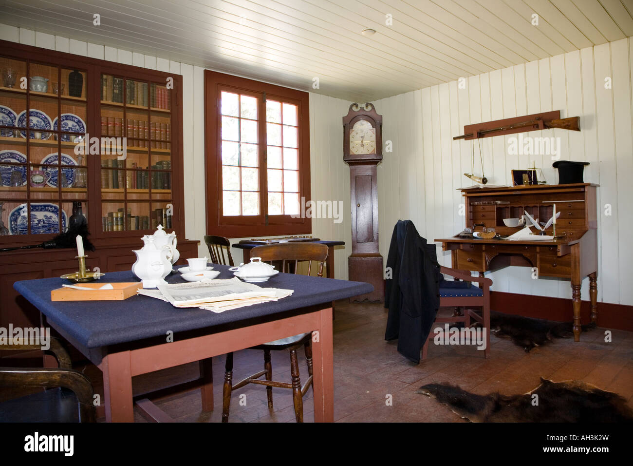 Inside The Big House Fort Langley National Historic Site British Columbia Canada