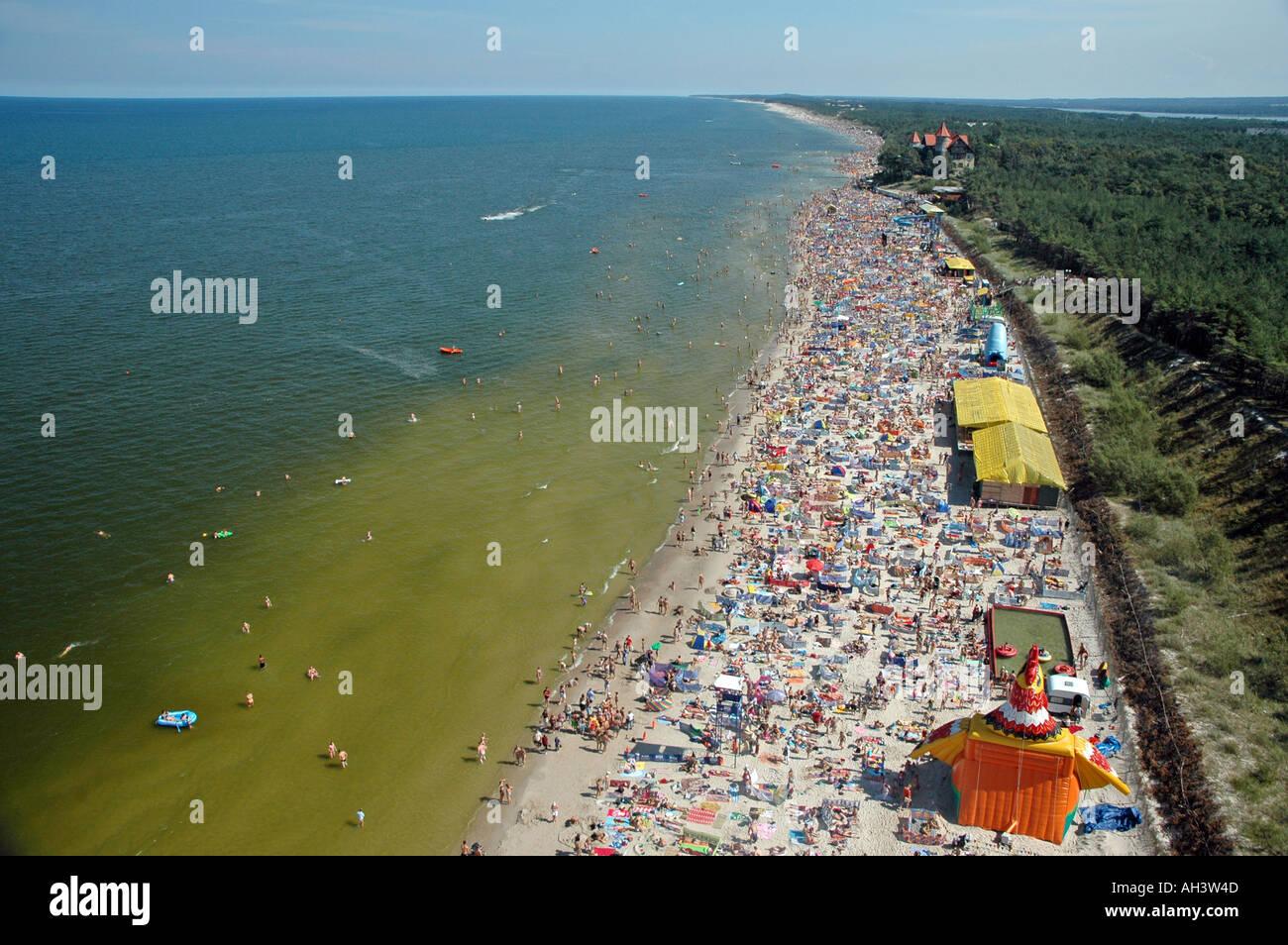 Crowded Beach In Leba Poland Stock Photo Royalty Free