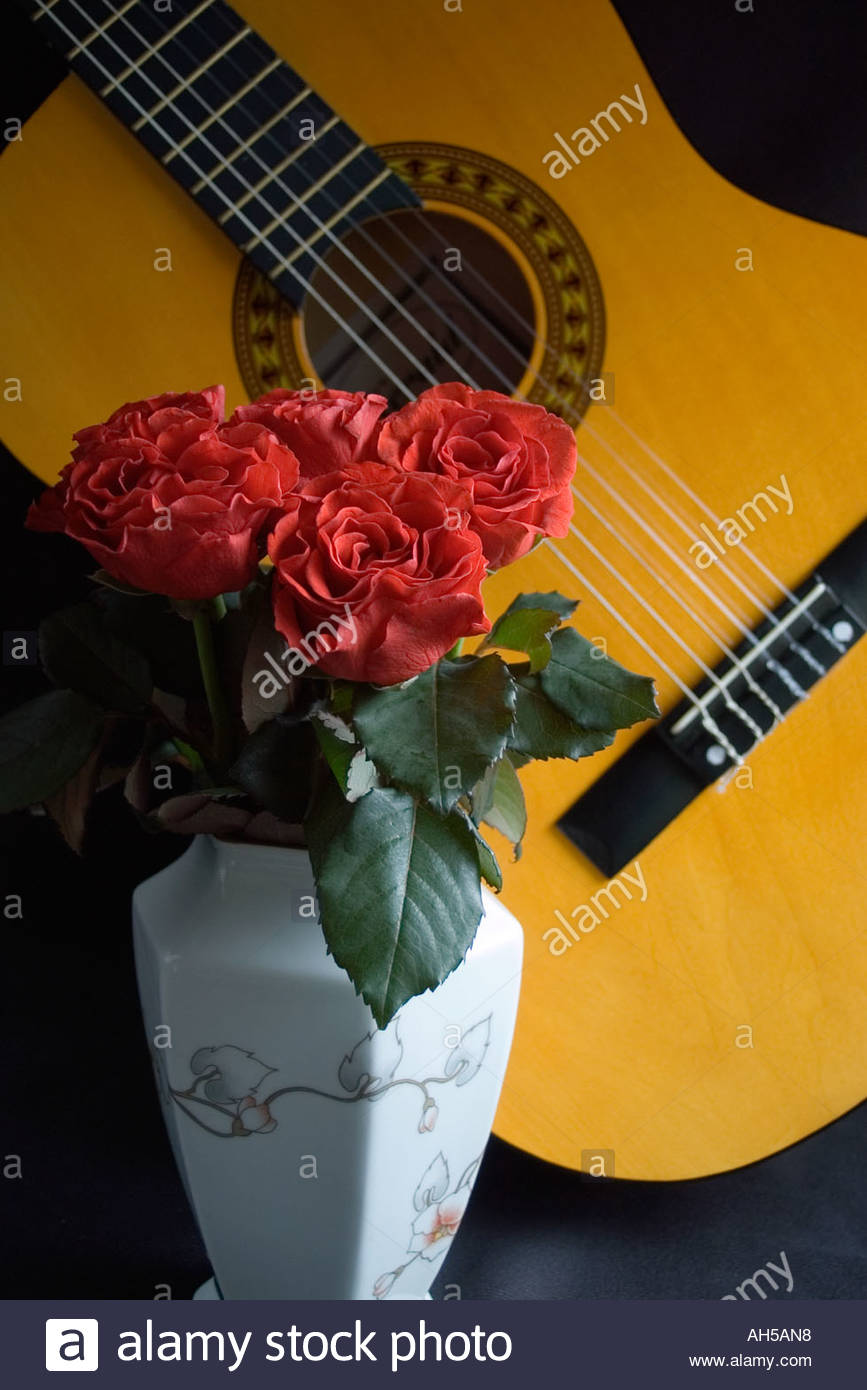 Spanish Guitar And A Single Red Rose
