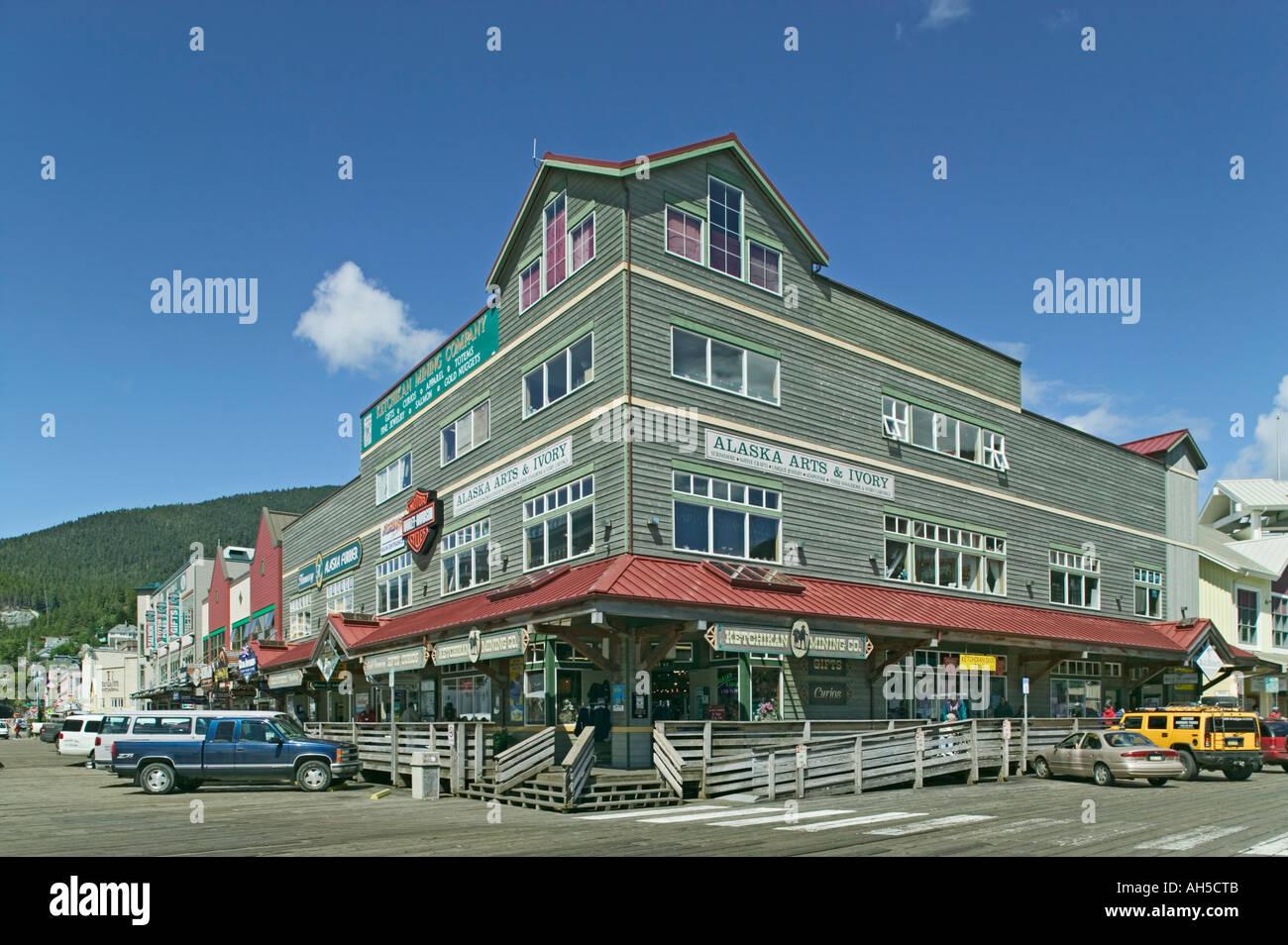 Shops Along Front Street Beside The Cruise Ship Dock Ketchikan - Cruise ship shops