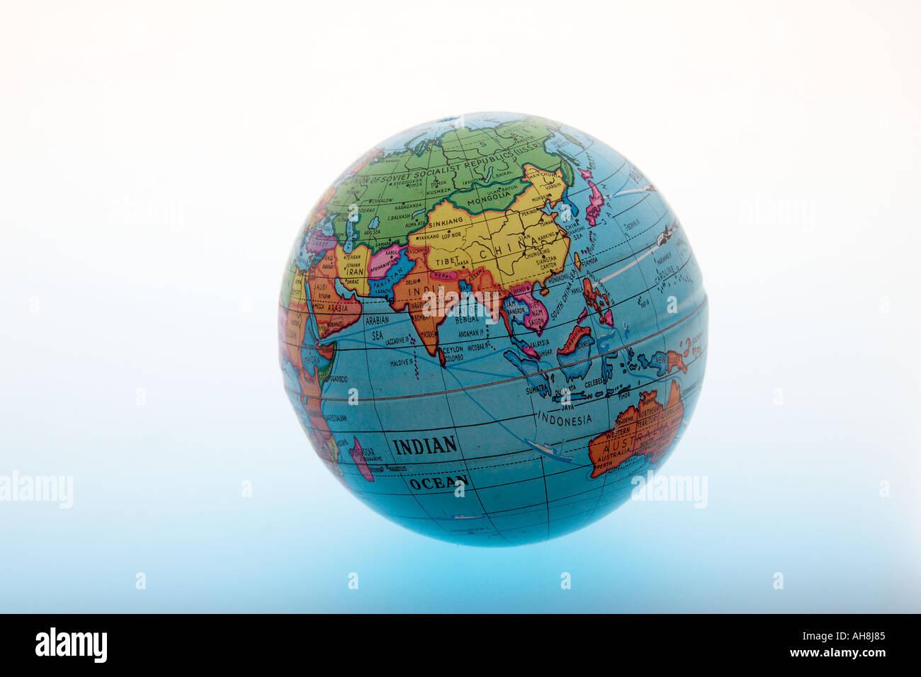 Indian globe concept stock photos indian globe concept stock round globe of world showing asia indian ocean india china sri lanka pakistan indonesia malaysia bangladesh gumiabroncs Choice Image