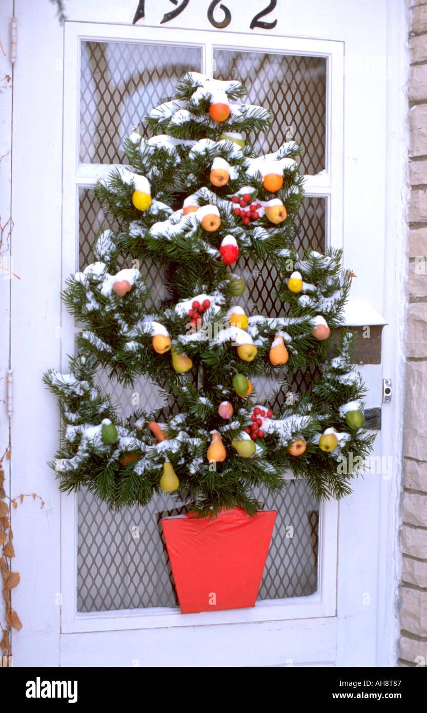 Front Door Christmas Tree Decoration St Paul Minnesota
