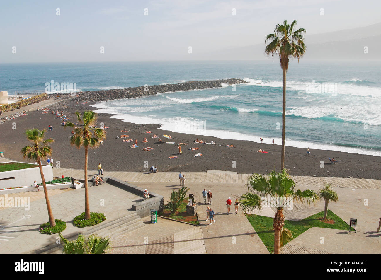 Puerto de la cruz tenerife canary islands spain playa stock photo royalty free image - Playa puerto de la cruz tenerife ...