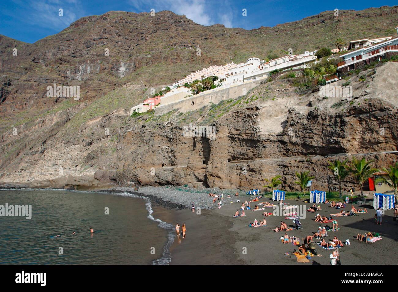Los gigantes beach puerto de santiago tenerife canary islands stock photo royalty free image - Puerto santiago tenerife mapa ...