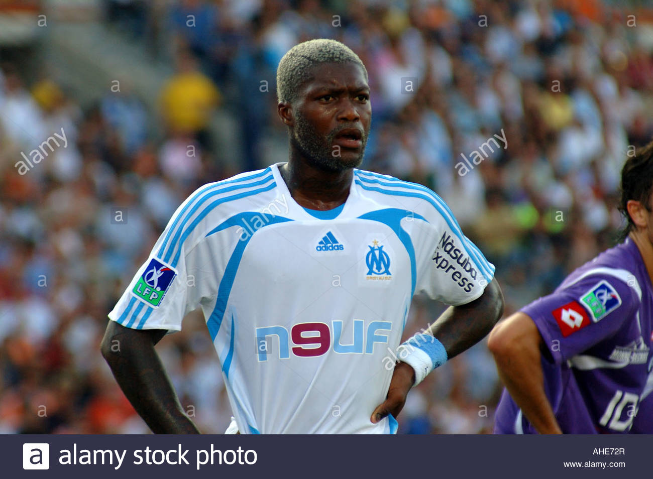 djibril cisse olympique de marseille stock photo royalty. Black Bedroom Furniture Sets. Home Design Ideas