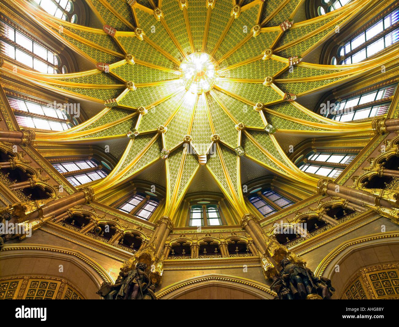 Interior Of Domed Hall Hungarian Parliament Building