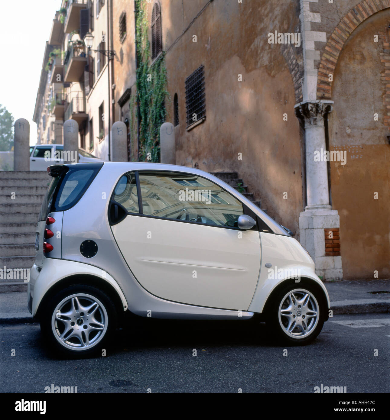 Mercedez Benz Small Fuel Efficient Smart Car Parked In A