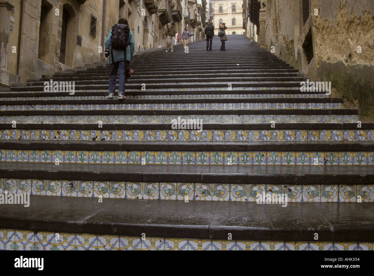 Large stair with ceramic tile ornaments in city caltagirone called large stair with ceramic tile ornaments in city caltagirone called ceramic city island sicily italy dailygadgetfo Choice Image
