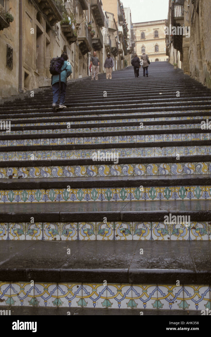 Large stair in city caltagirone called ceramic city with ceramic large stair in city caltagirone called ceramic city with ceramic tile ornaments island sicily italy dailygadgetfo Choice Image