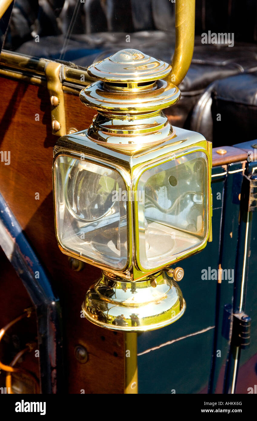 Antique Brass Car Headlights : Vintage brass car lamp stock photo royalty free image