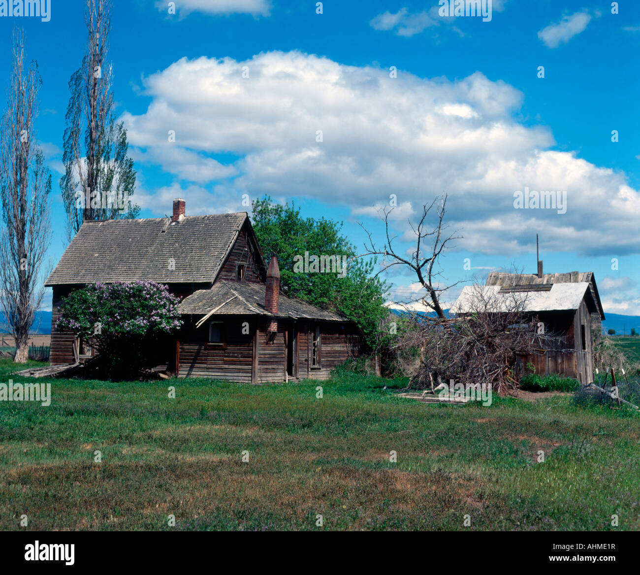 Abandoned ranch house in the high desert of eastern oregon for High ranch house