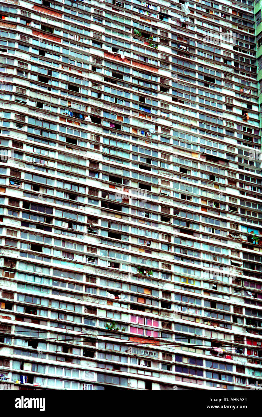 Full Frame Image Of An Apartment Complex In A Poor District Of Sao Paolo  Brazil