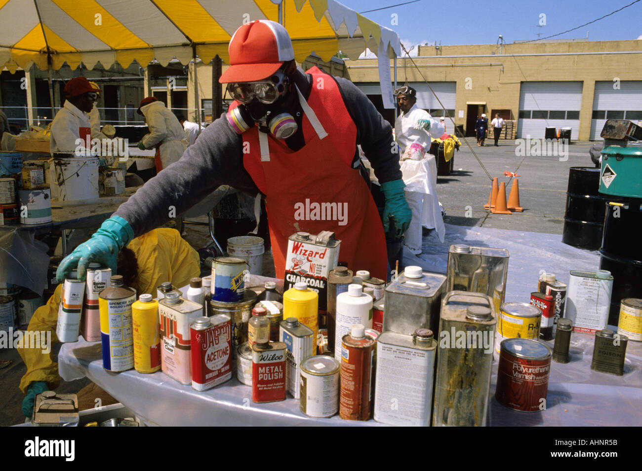 Volunteers Help Dispose Of Toxic Household Products Such