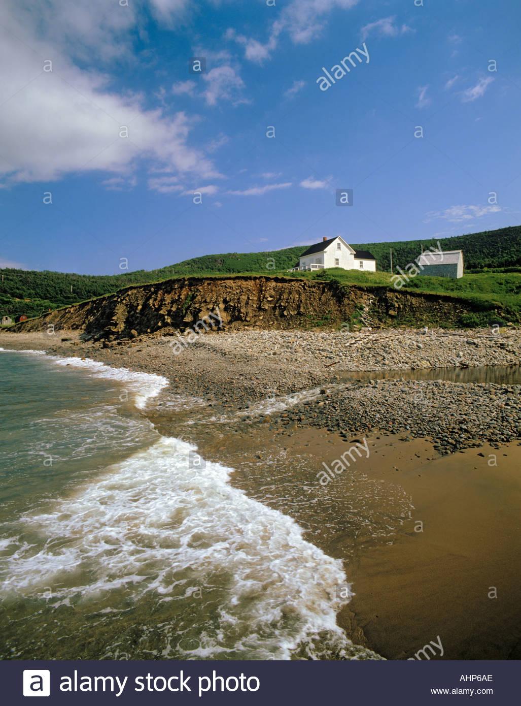at capstick on cape breton island in nova scotia canada