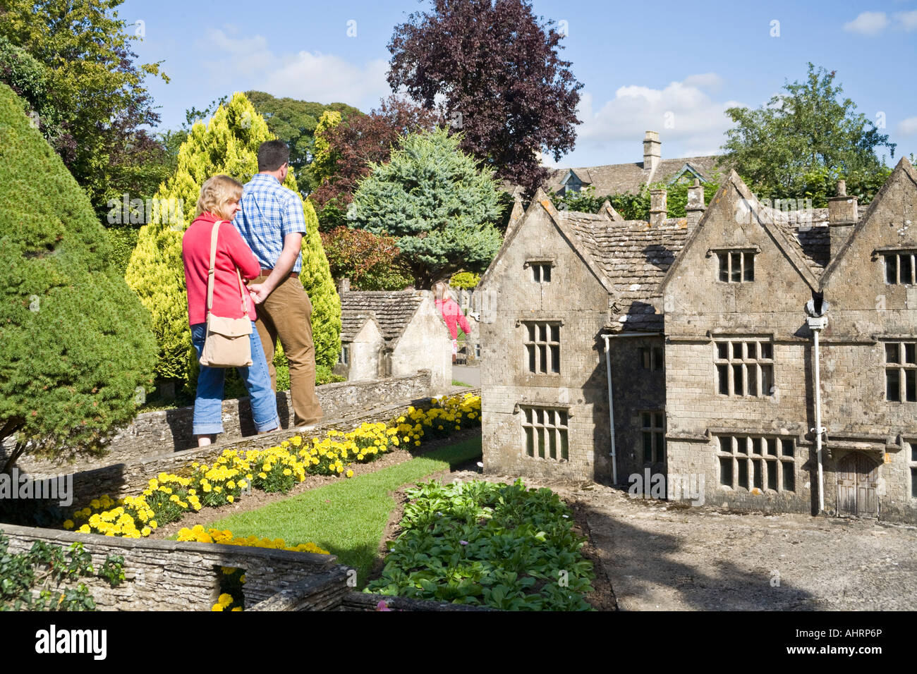 The model village behind the old new inn in the cotswold village of stock photo royalty free - The tiny house village a miniature settlement ...