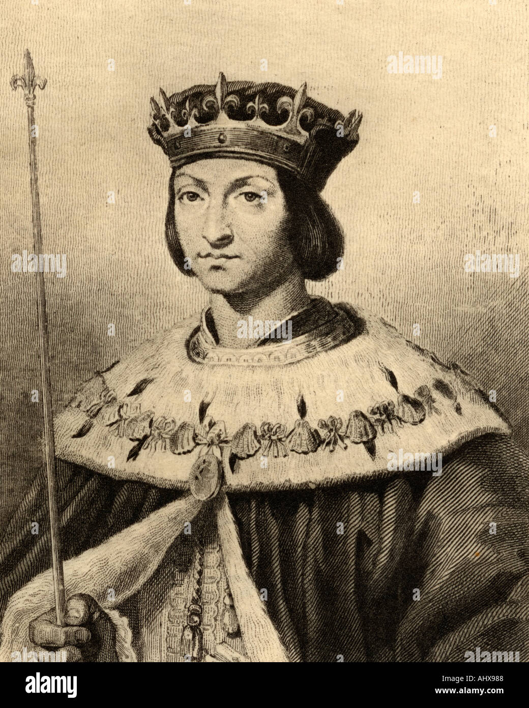 Louis XII of France, Father of the People 1462 -1515.  King of France from 1498 to 1515 and King of Naples from 1501 to 1504.