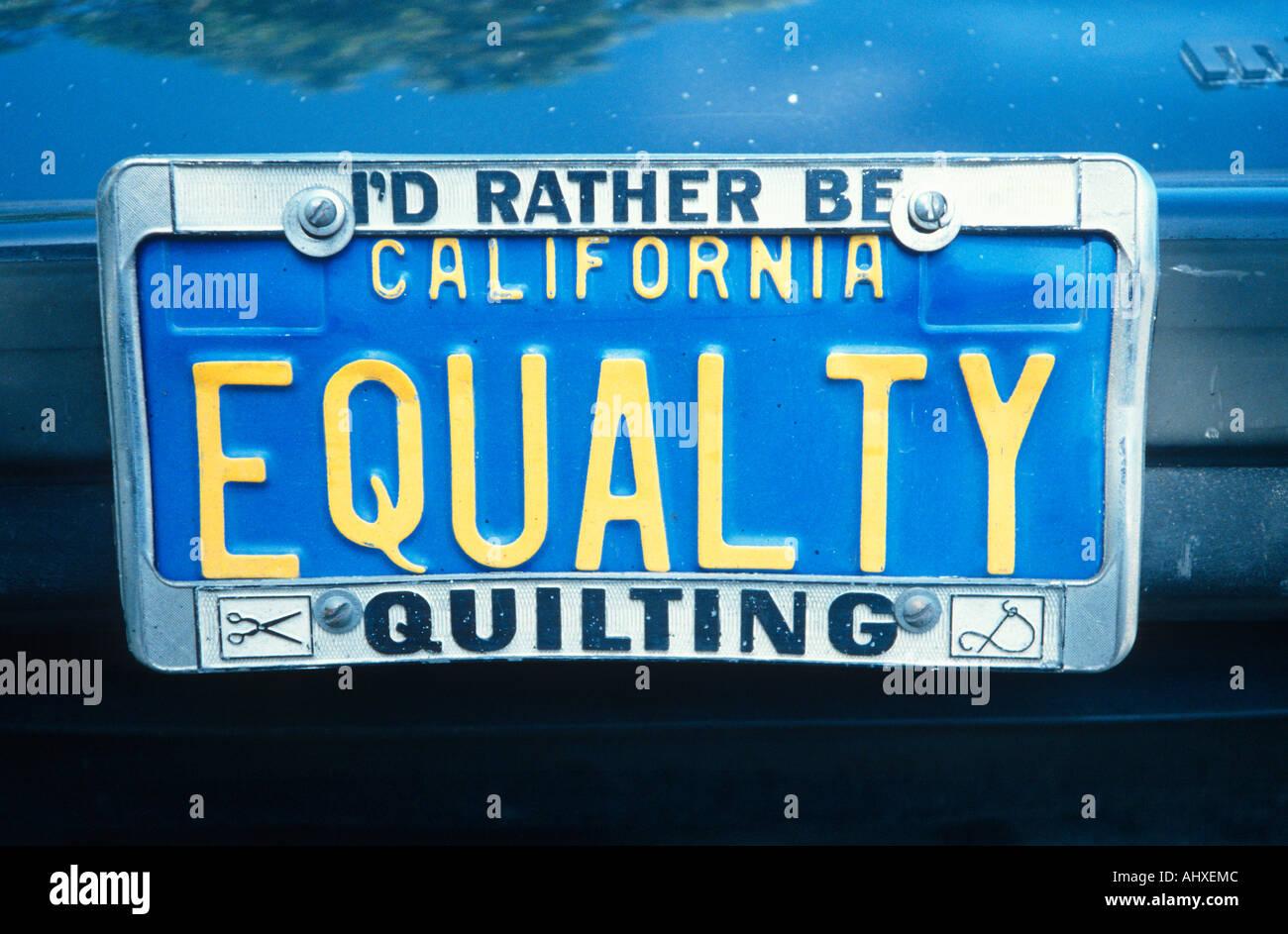Vanity License Plate California