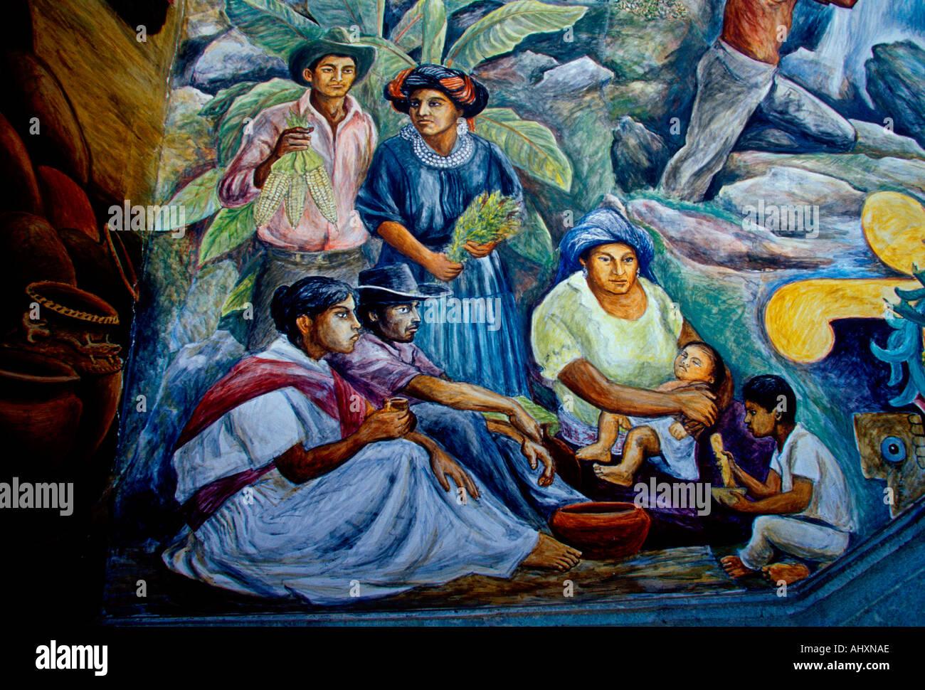 Mural comida de familia zapoteca by arturo garcia bustos for Mural una familia chicana