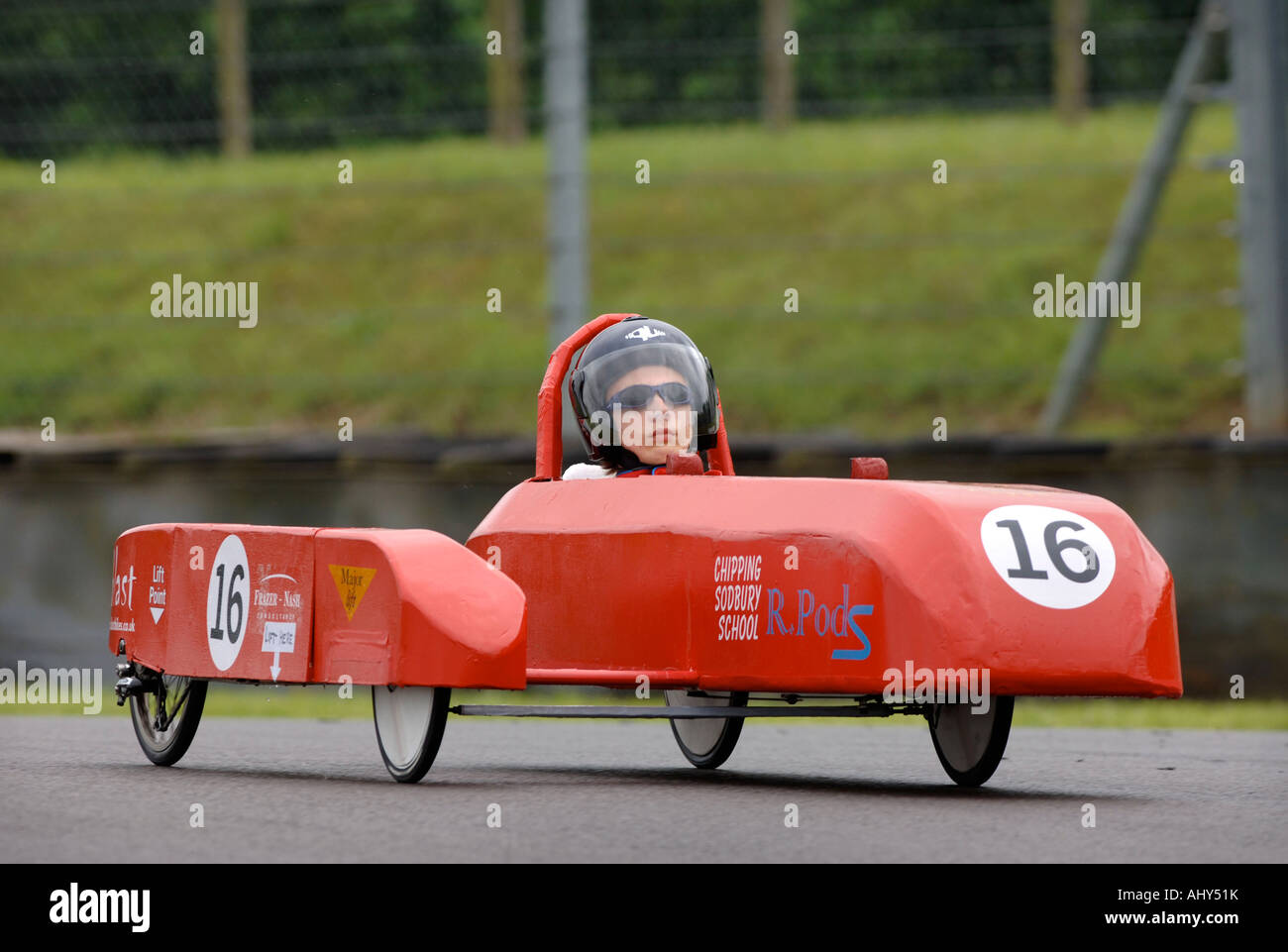 greenpower electric car racing for schools at the castle combe stock photo royalty free image. Black Bedroom Furniture Sets. Home Design Ideas