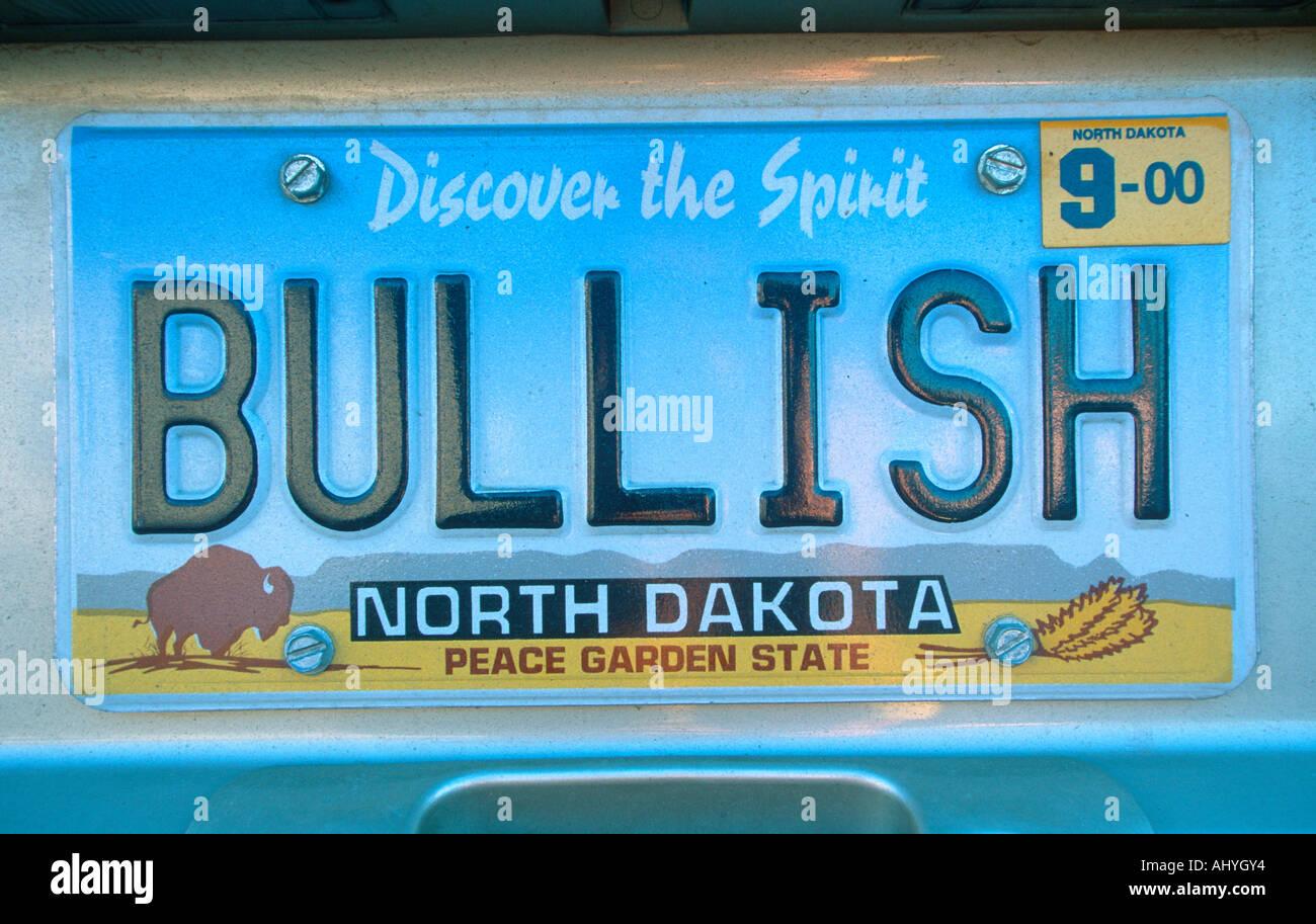 Vanity License Plate North Dakota