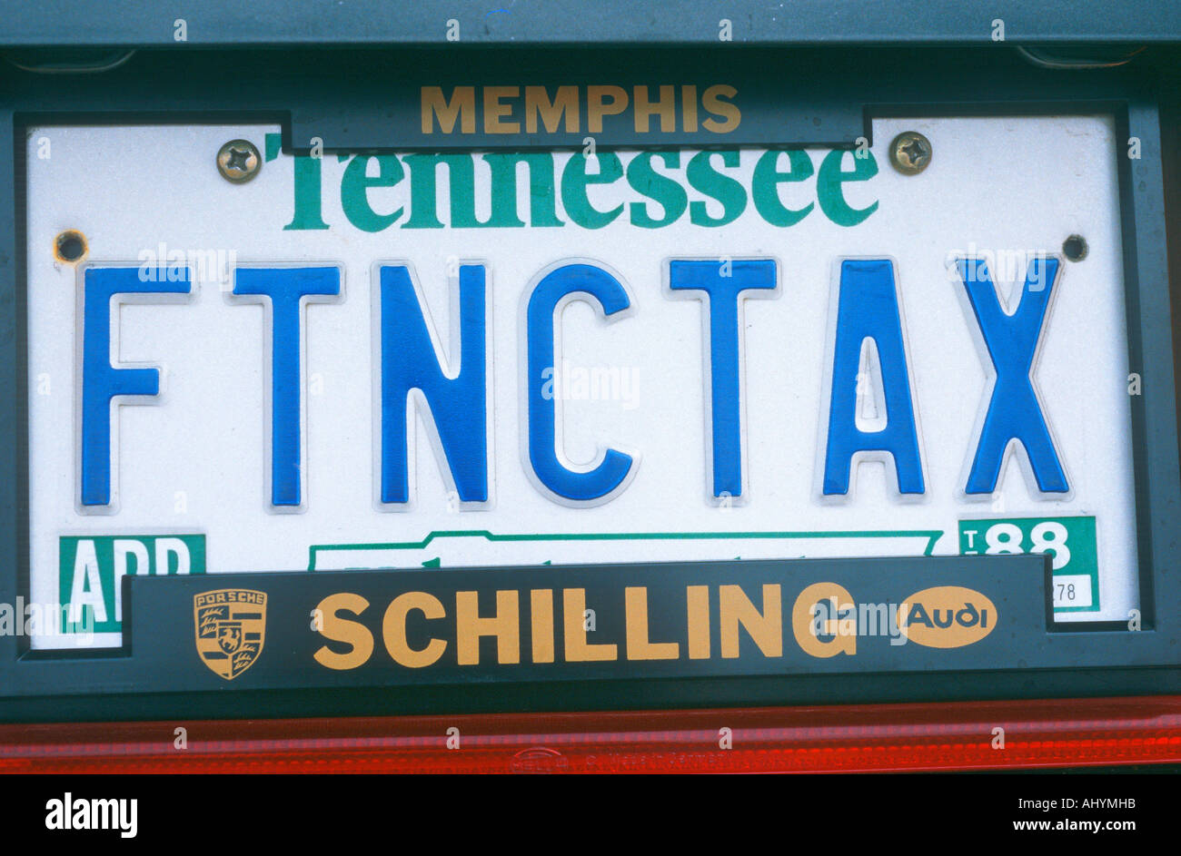 Vanity License Plate Tennessee Stock Photo, Royalty Free Image ...