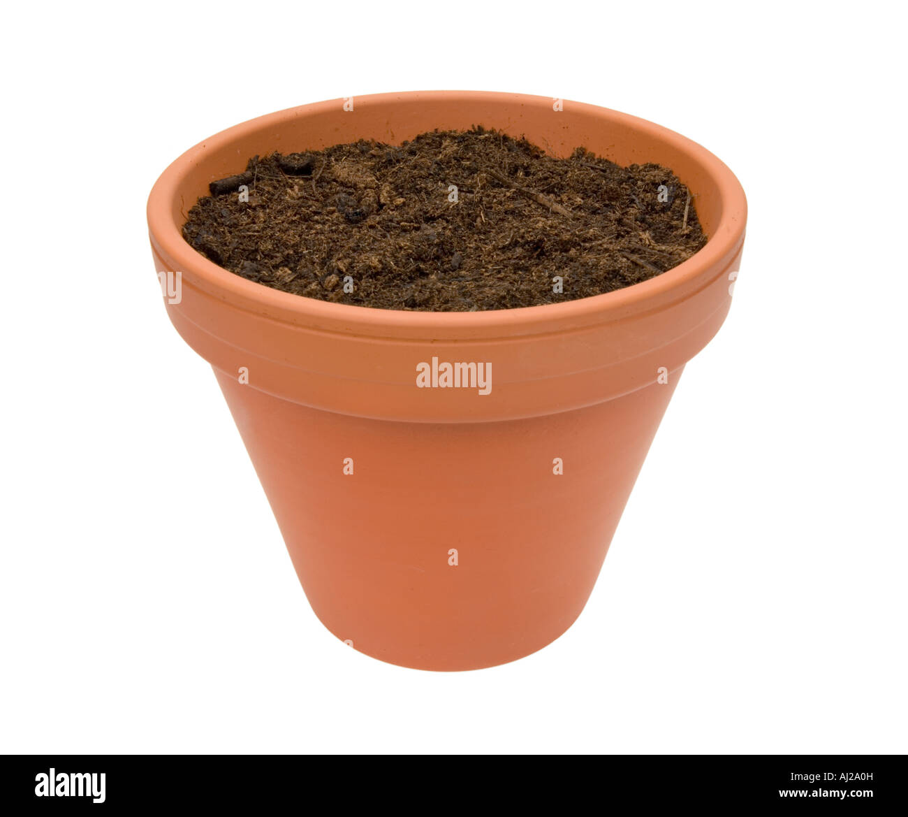 jar clay crock flowerpot flower pot with potting soil