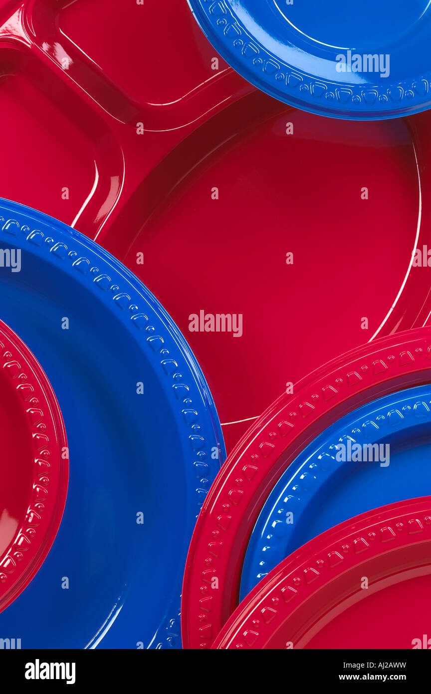 Plastic Plates Detail Red Blue Disposable & Plastic Plates Detail Red Blue Disposable Stock Photo Royalty Free ...