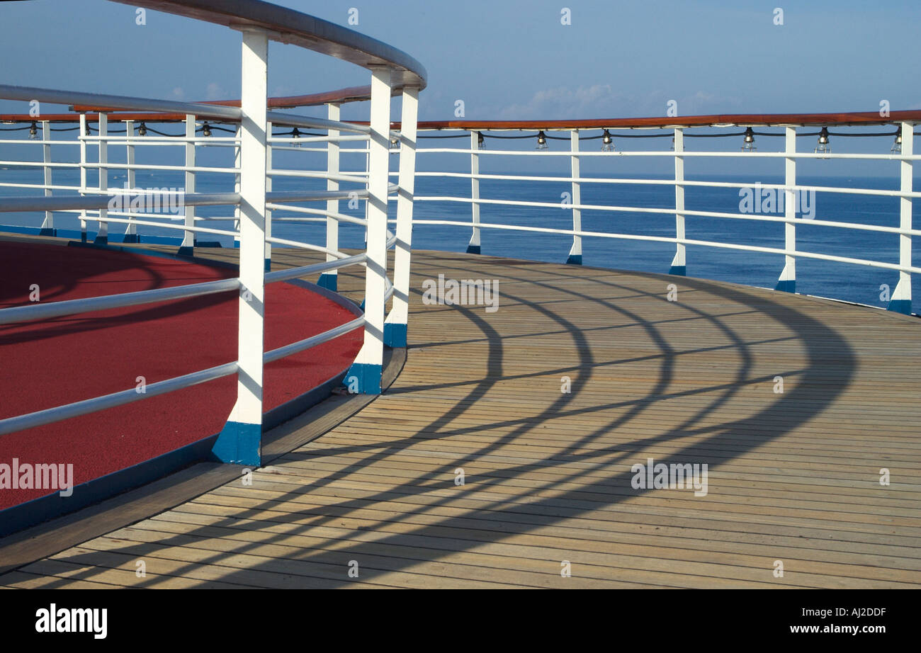 Running Track On Cruise Ship With Railings Stock Photo Royalty - Track a cruise ship