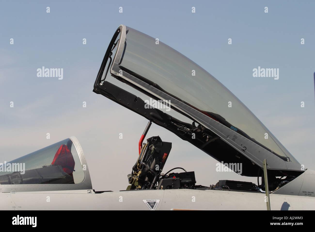 Eurofighter Typhoon Jet Fighter Interceptor Cockpit And