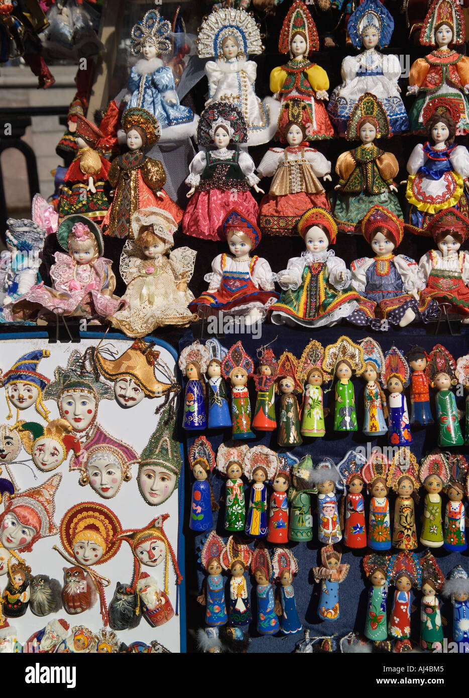 Souvenir Stall St Petersburg Russia Stock Photo, Royalty