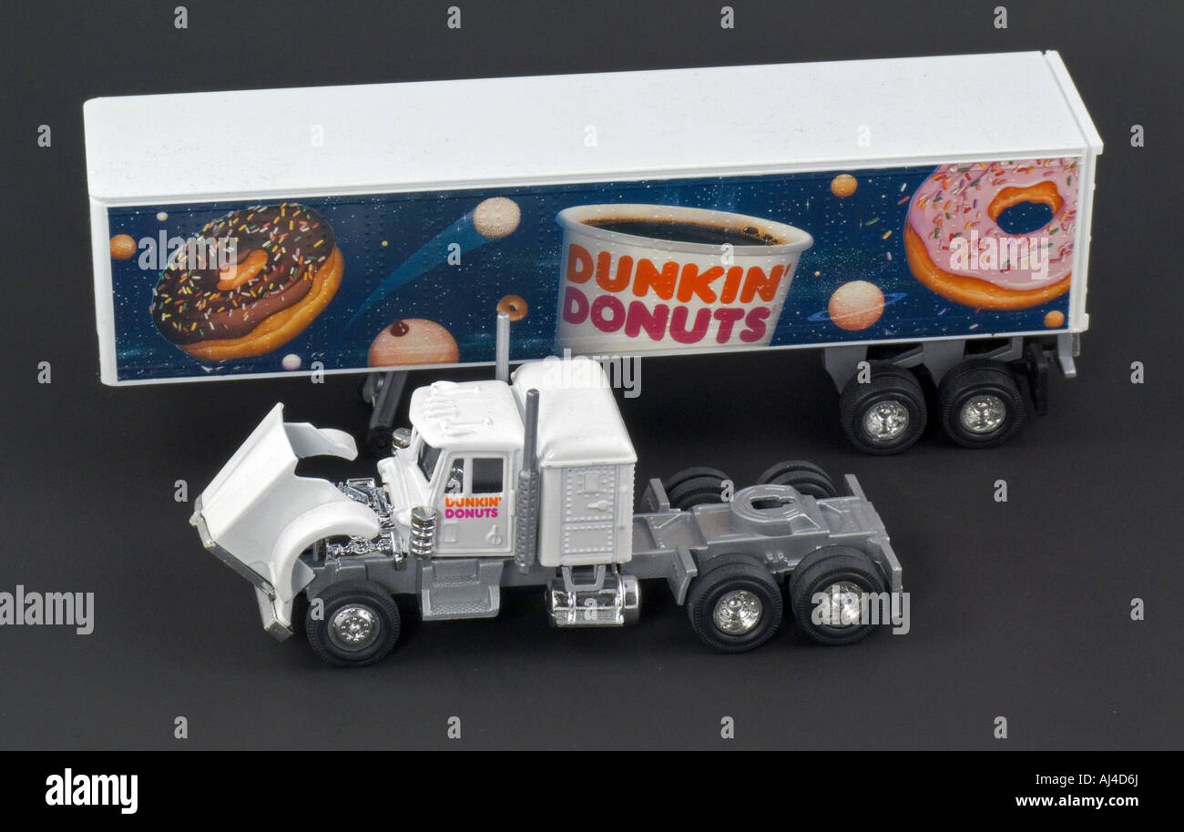 Toy Tractor Trailer Trucks : Dunkin donuts collector toy di cast truck semi tractor