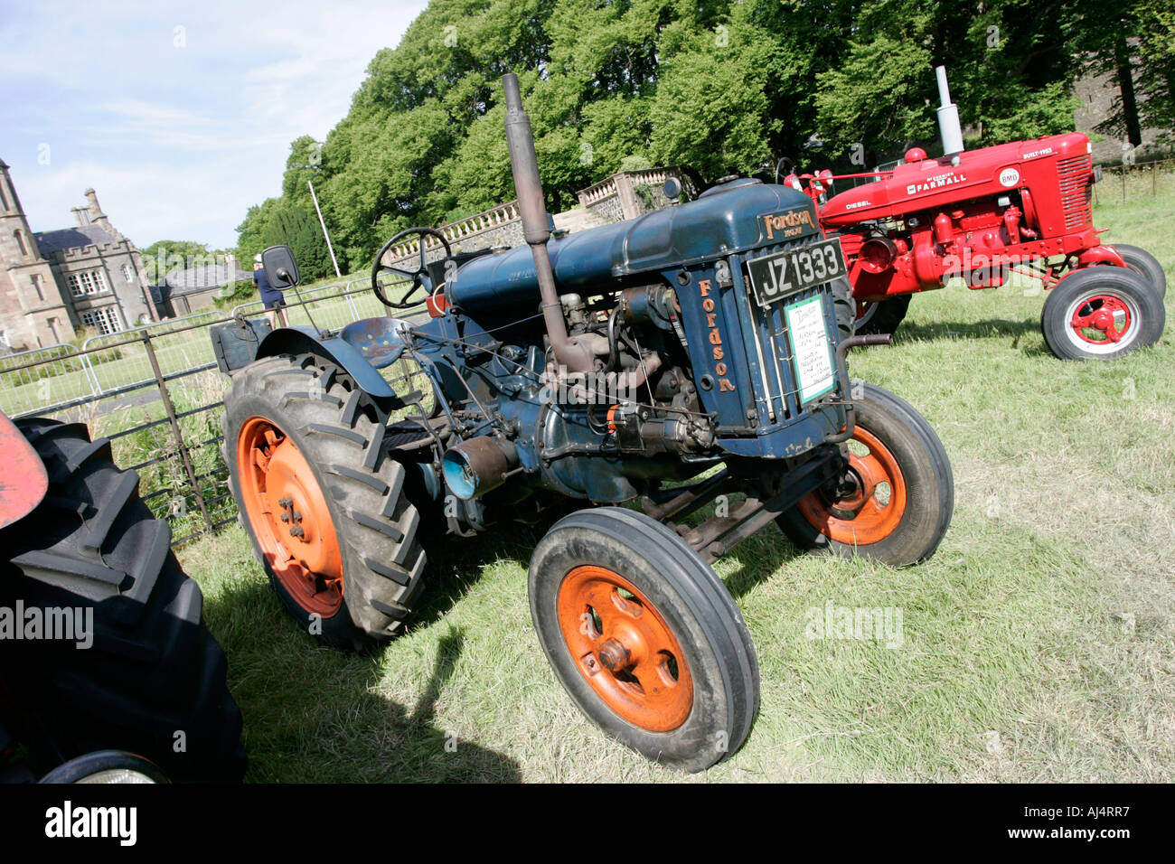 Fordson major e27n classic tractor during vintage tractor rally at glenarm castle open day county antrim