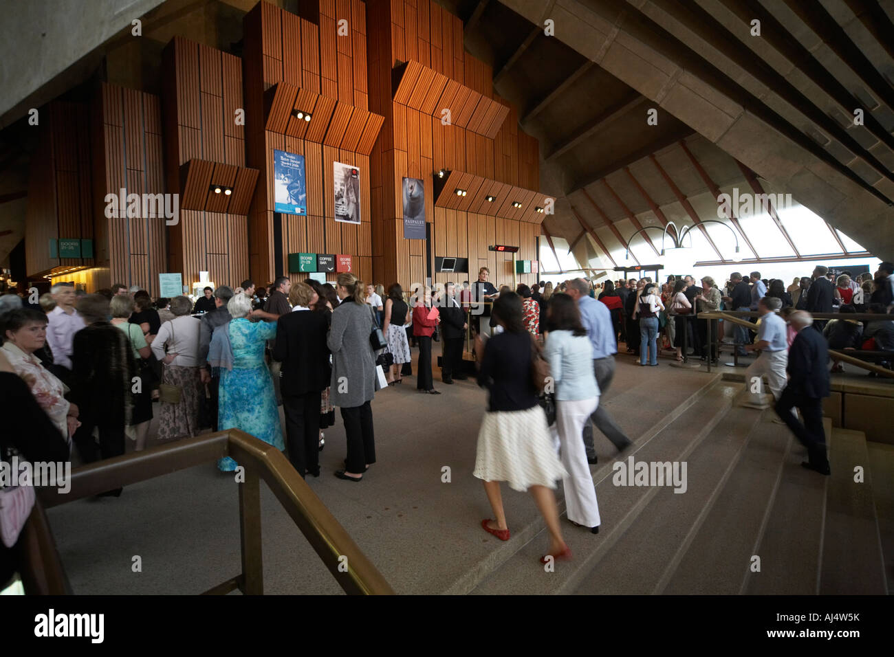 Foyer Area News : People going to the ballet in foyer area of opera house
