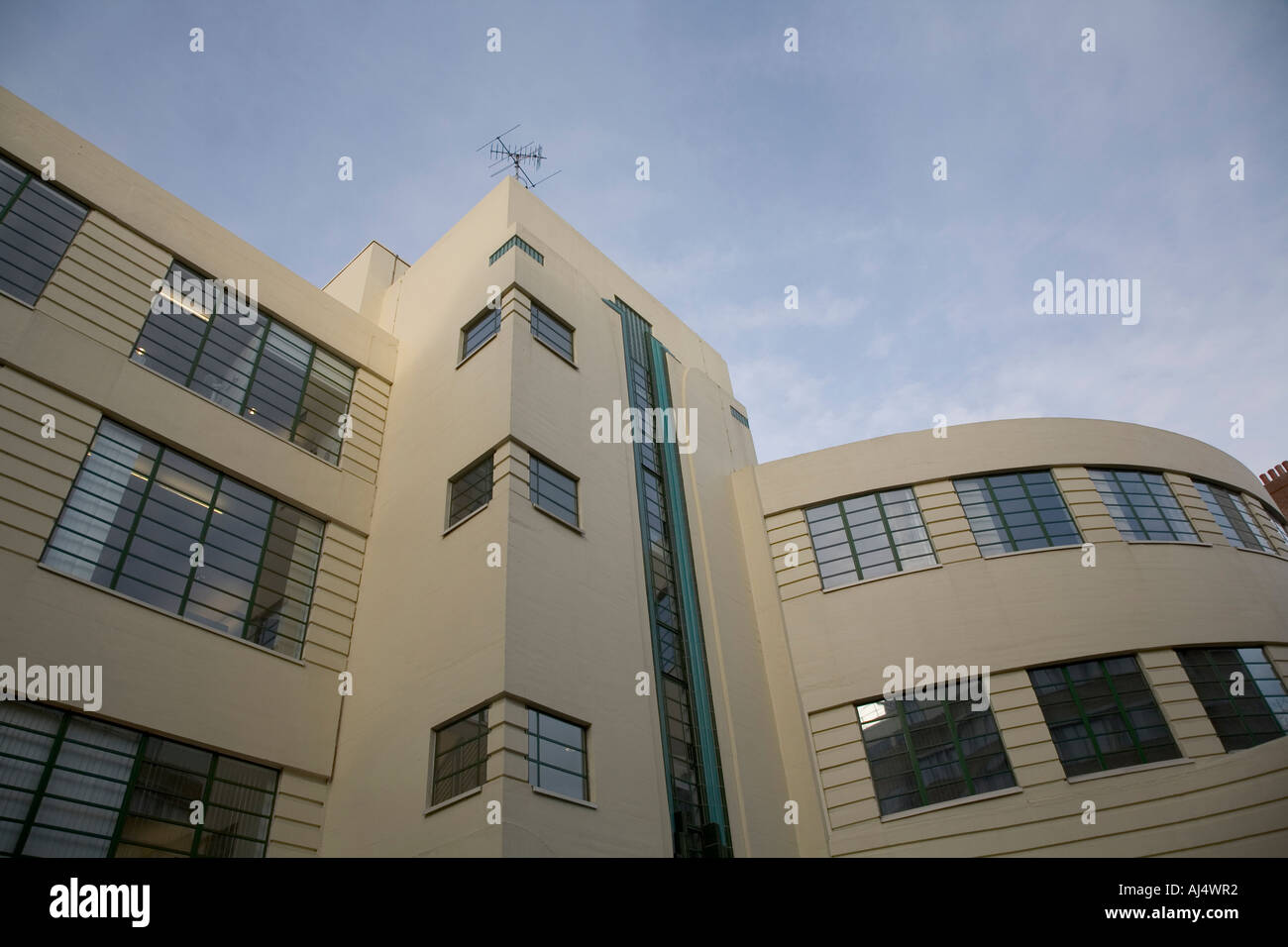 art deco style building in herbrand street london england stock