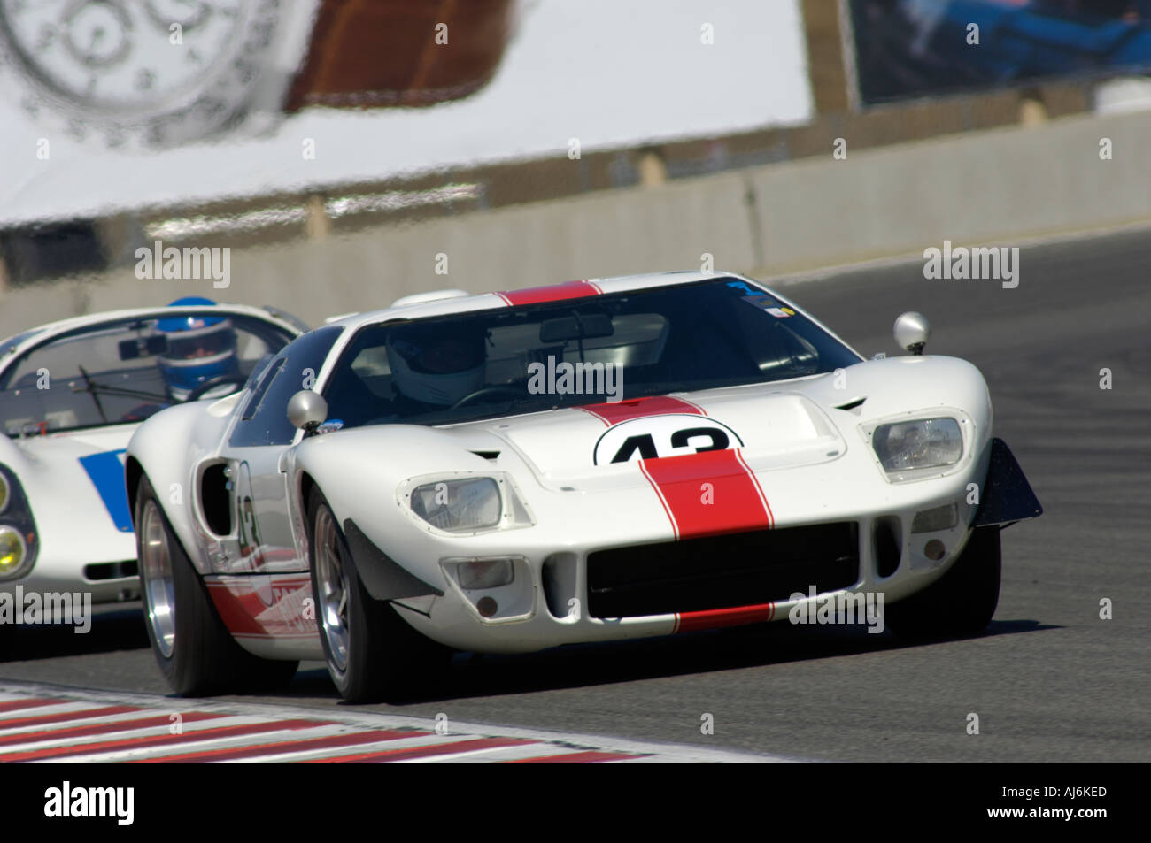 John Brice races his 1966 Ford GT 40 at the 32nd Rolex Monterey ...