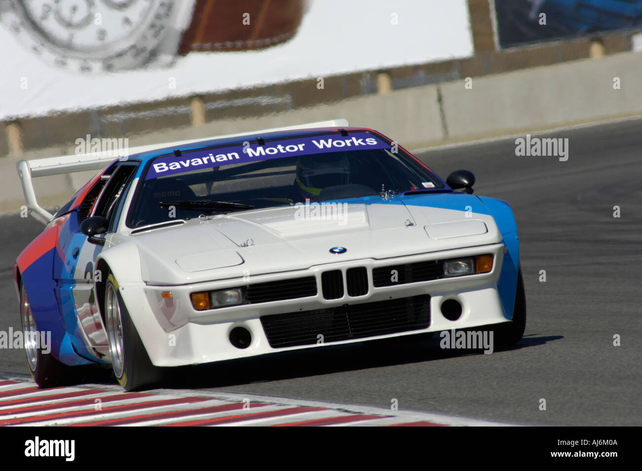Tommy Milner races a 1980 BMW M1 at the 32nd Rolex Monterey ...