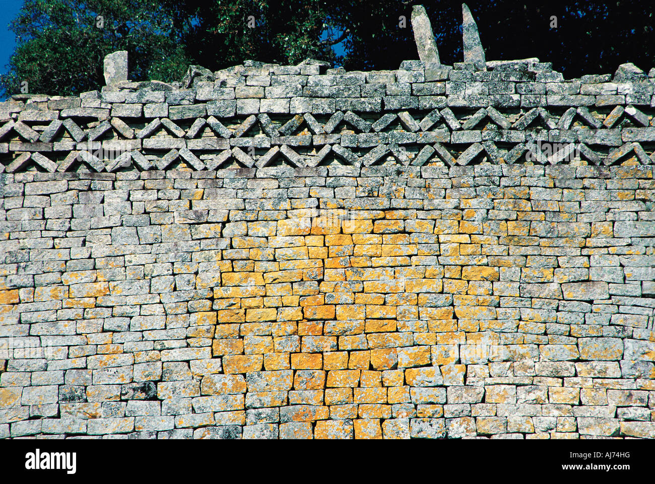 Chevron pattern on eastern wall of great enclosure great zimbabwe chevron pattern on eastern wall of great enclosure great zimbabwe ruins zimbabwe sciox Image collections