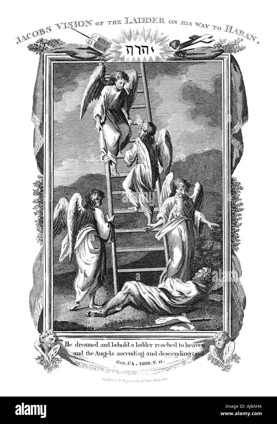 jacob s dream of angels ascending and descending the ladder to