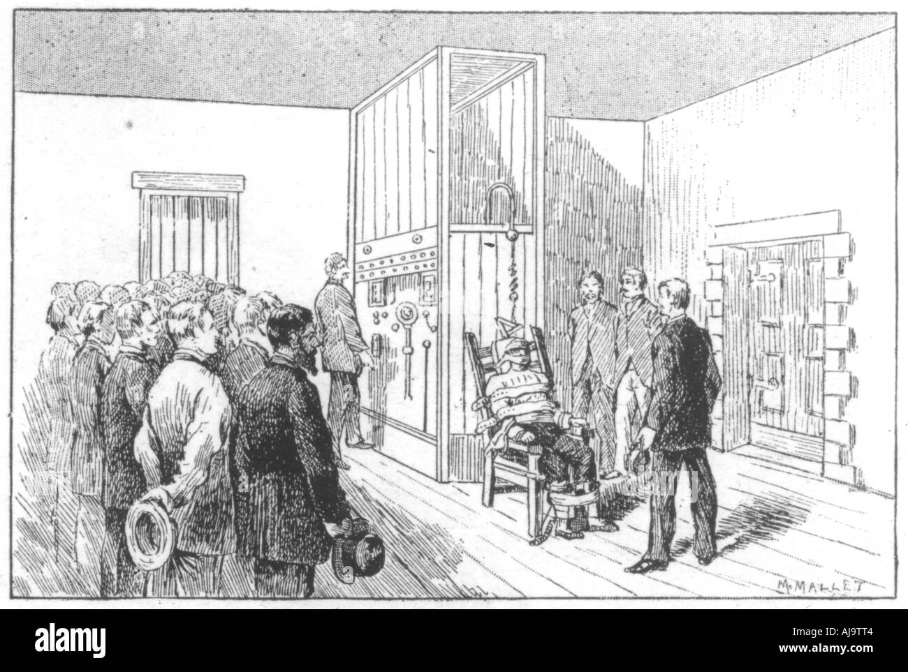 The electric chair execution - Execution Of Kemmler The First Man To Die In The Electric Chair Usa 6 August 1890