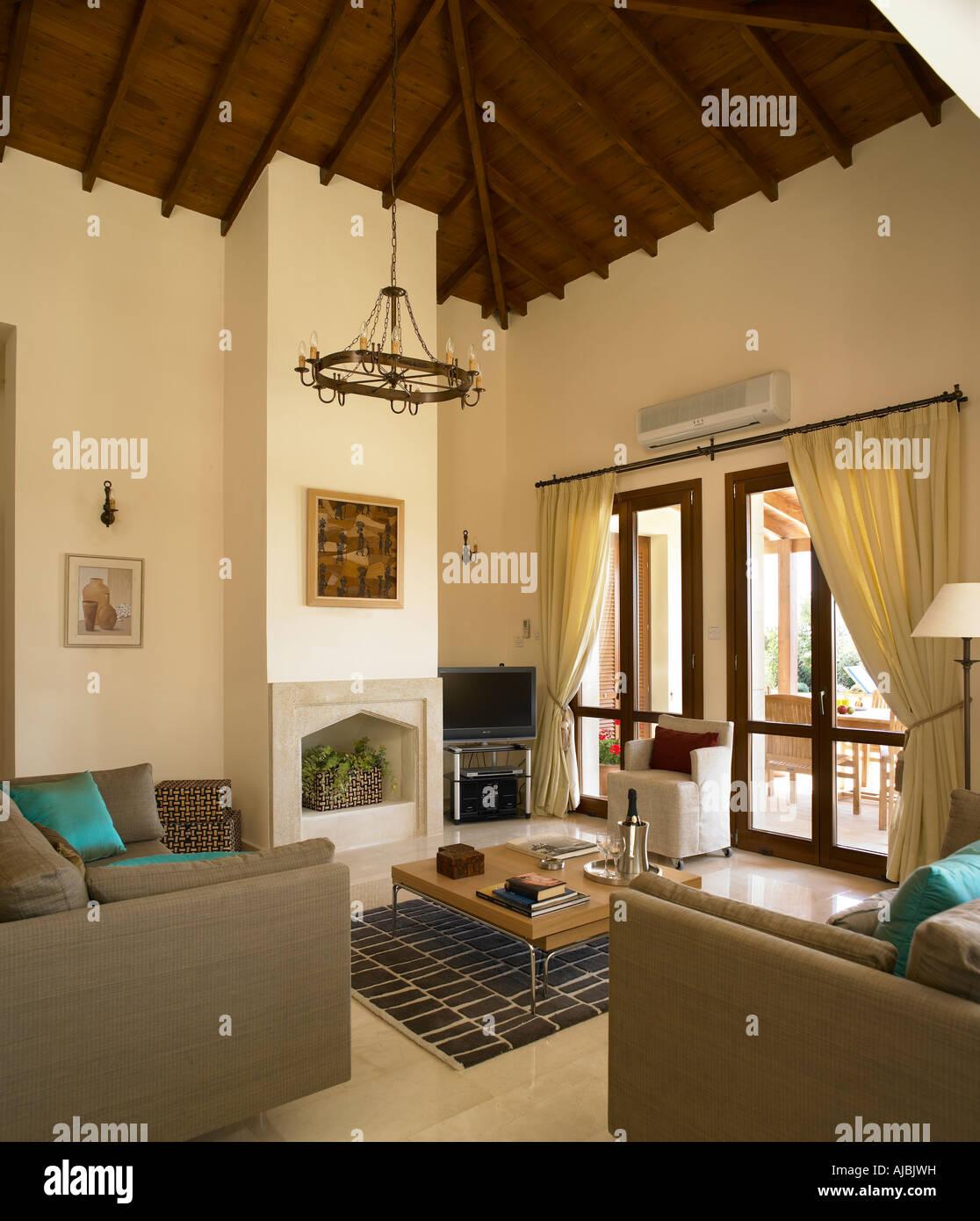 Interior of a luxury Villa in Aphrodite Hills, Cyprus.