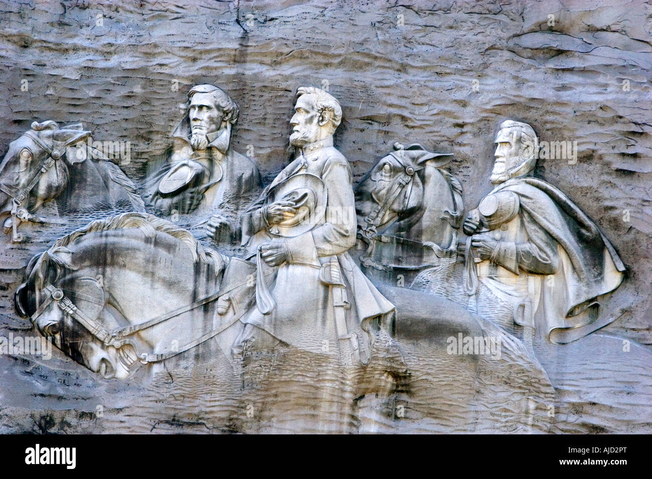 Carving of stonewall jackson robert e lee and jefferson