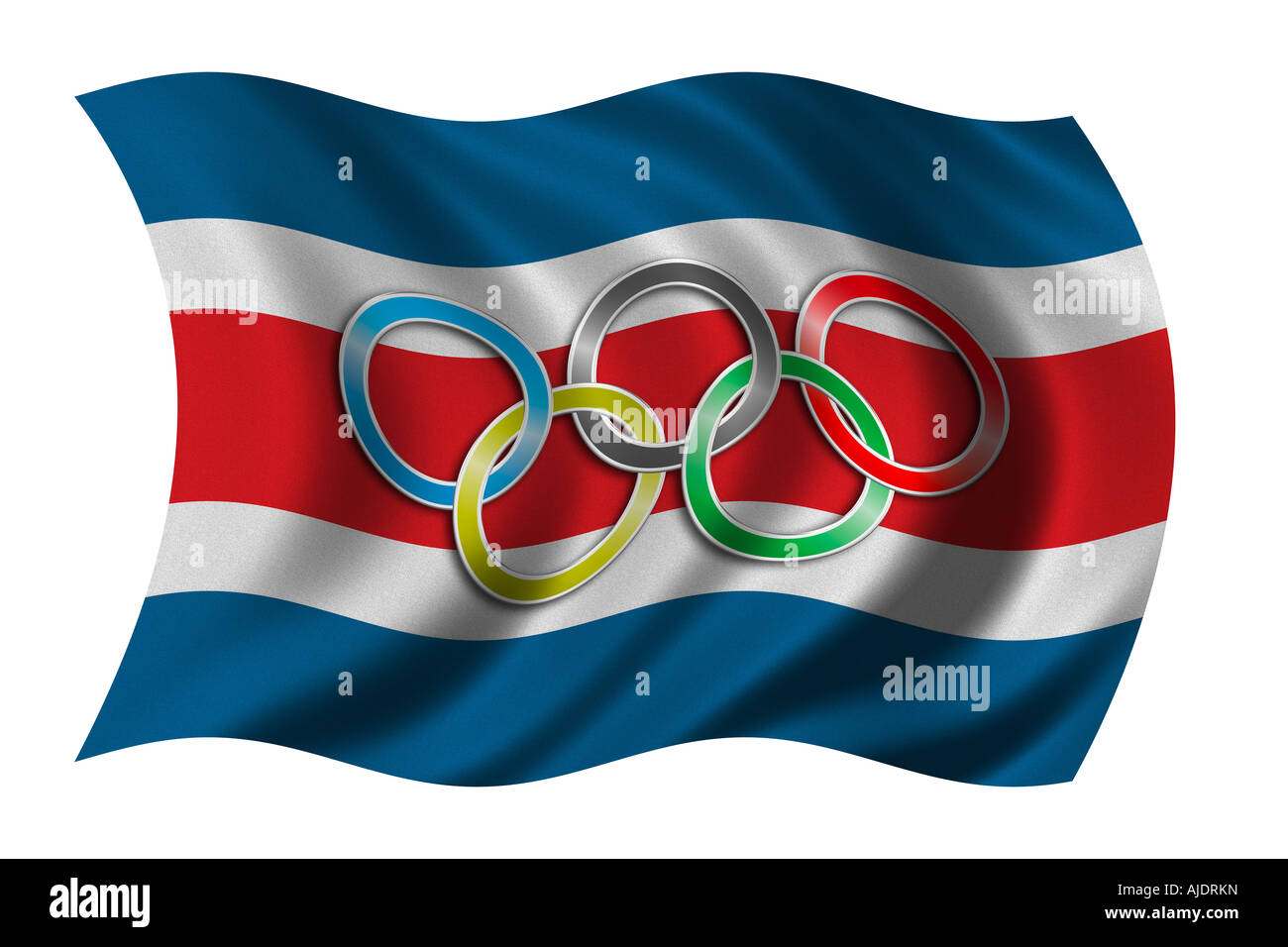 Flag of costa rica with olympic symbol stock photo 14706392 alamy flag of costa rica with olympic symbol biocorpaavc Gallery