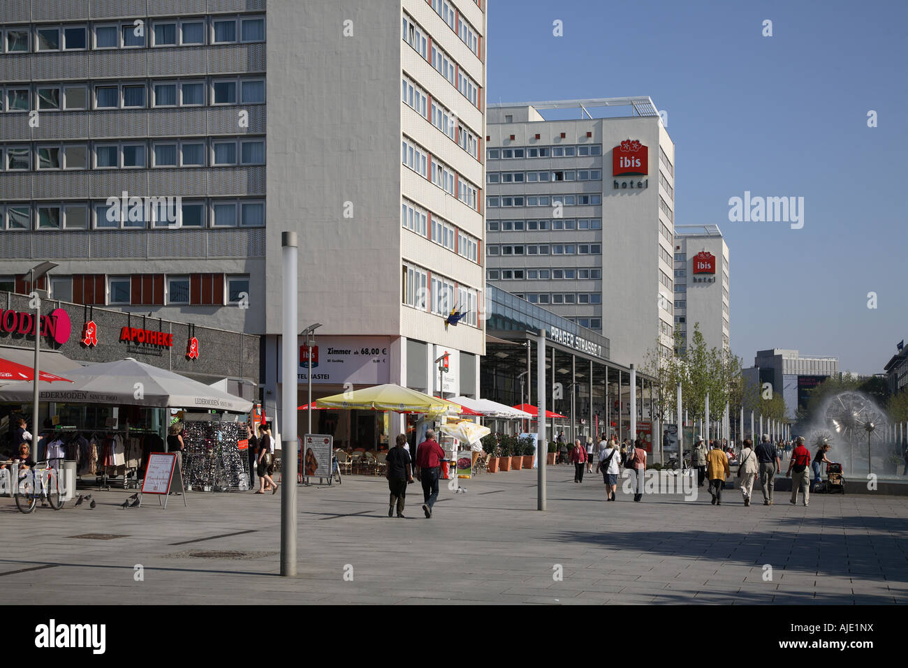 sachsen saxony dresden prager strasse street st stock photo royalty free image 14708437 alamy. Black Bedroom Furniture Sets. Home Design Ideas