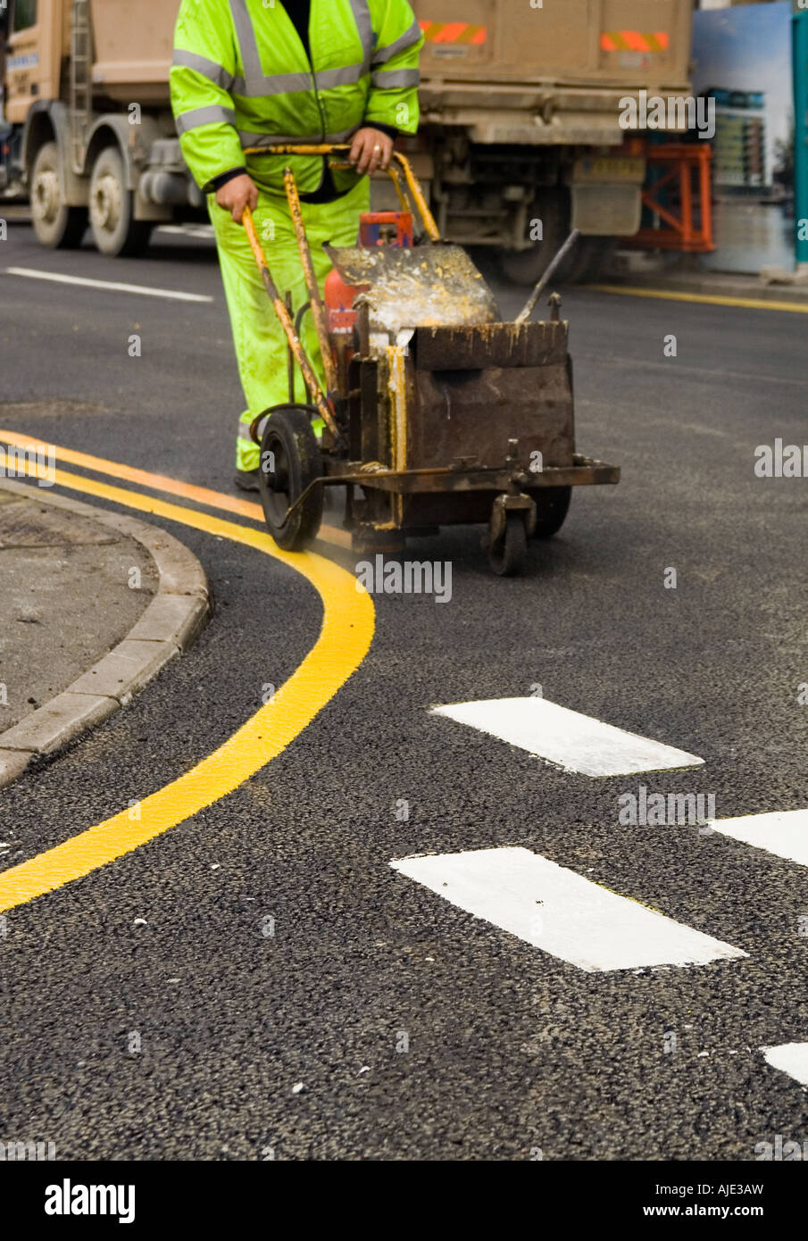 White Traffic Paint : Road marking in uk engineering people health and