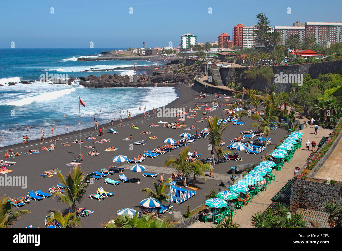 Playa jardin puerto de la cruz tenerife canary islands spain stock photo royalty free image - Playa puerto de la cruz tenerife ...