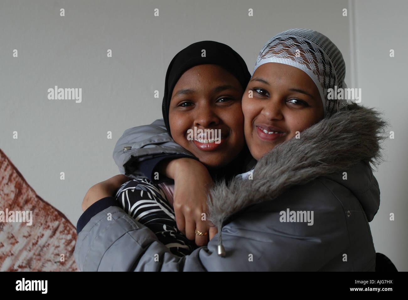 Somali girls London Stock Photo, Royalty Free Image