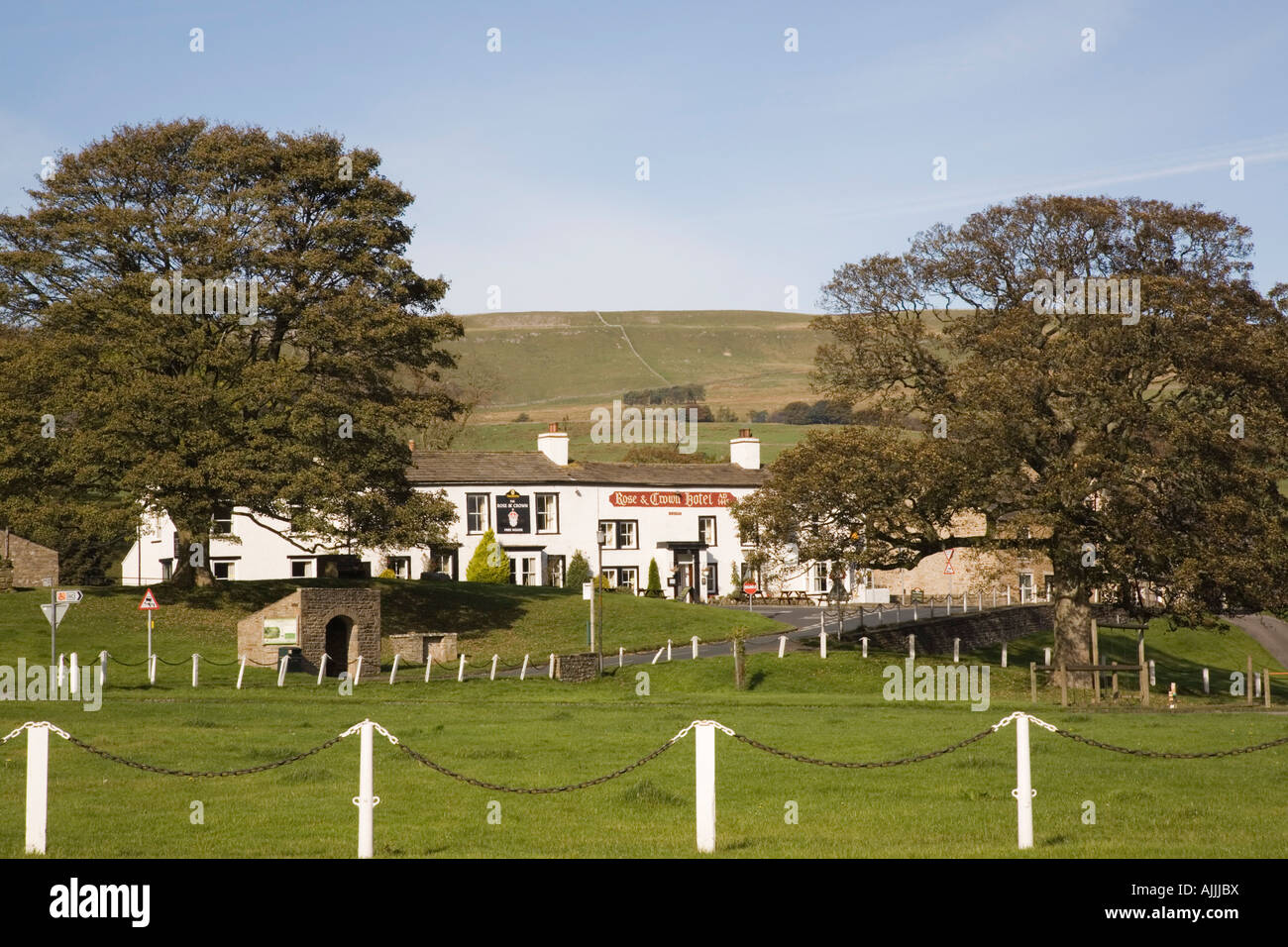 Bainbridge Village Green In Yorkshire Dales National Park Wensleydale North England UK