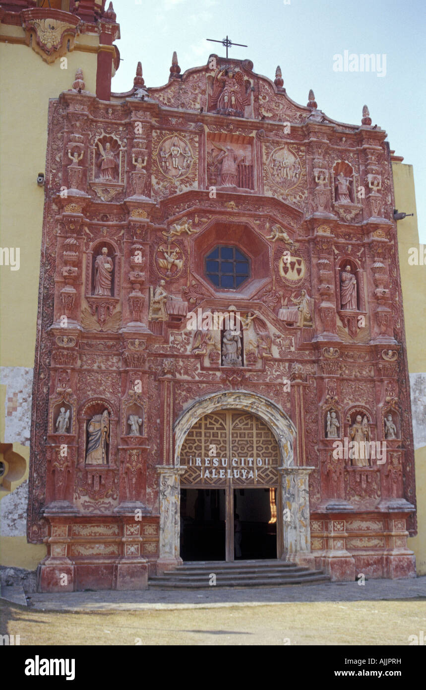 Mexican Baroque Style Facade Of The Church At Mision De Landa Metamoros In Sierra Gorda Queretaro State Mexico