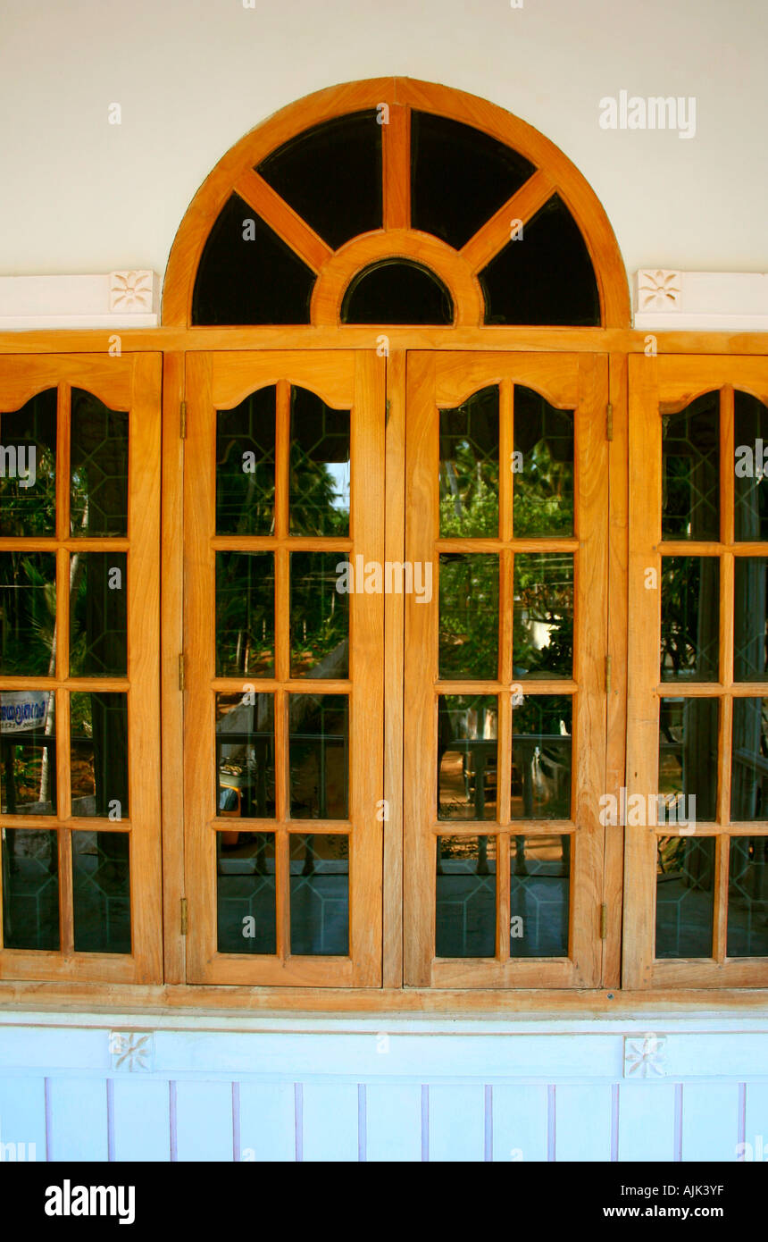 Glass windows of a modern house kerala stock photo for Window design for house in india